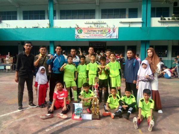 Alhamdulillah SD Namira Meraih Juara 1 Dalam Turnamen Futsal AHA CUP II Tahun 2019 Tingkat Kota Medan