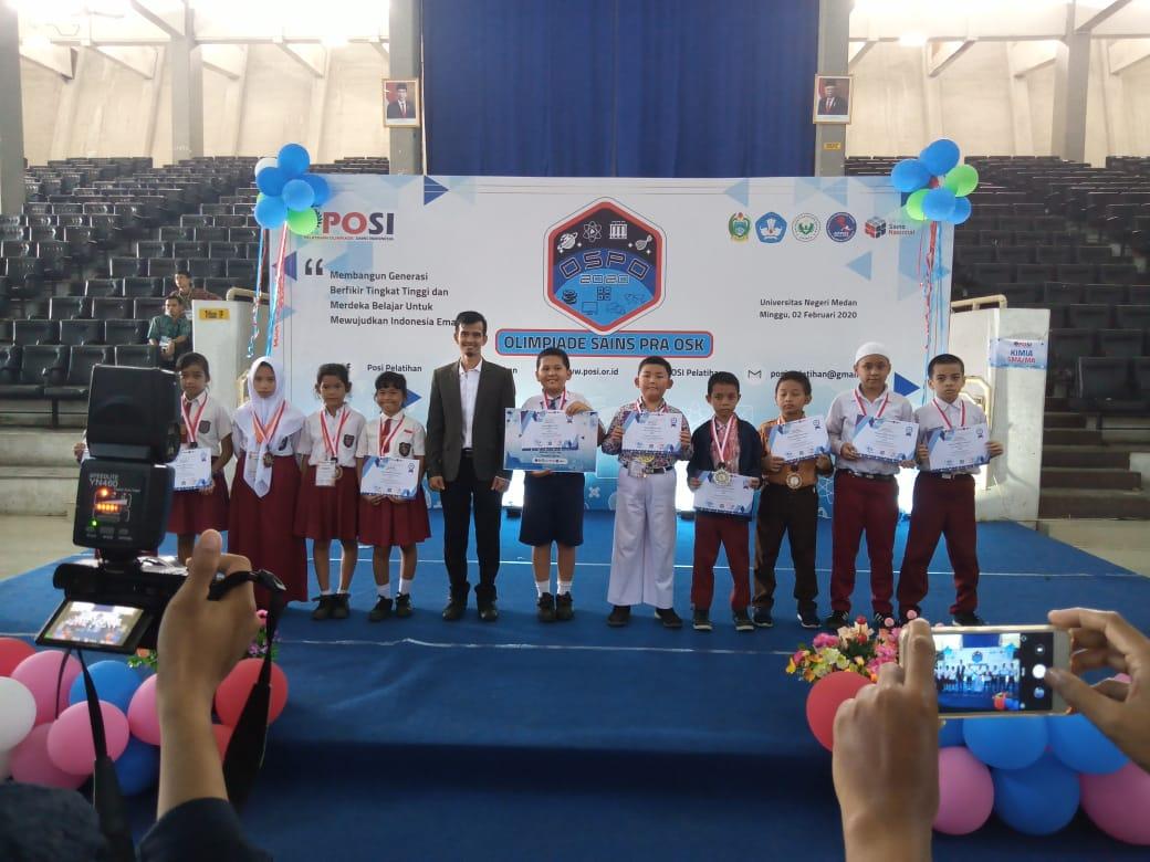 Alhamdulillah Siswa SDS Namira Syafiq Arya Kamil Wiguna Meraih Prestasi Medali Emas Peringkat 5 Dalam Olimpiade IPA SD Pra OSK 2020 OSPO POSI Sumatera Utara