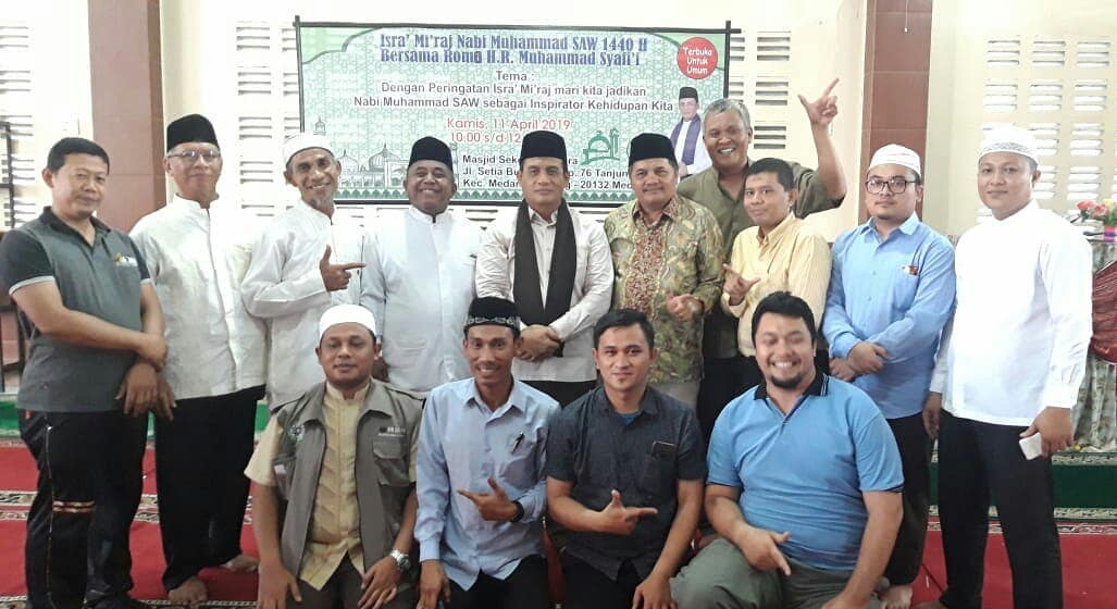 Alhamdulillah Peringatan Isra' Mi'raj Bersama Ustadz Romo H. R. Muhammad Syafi'i Di Masjid Sekolah Namira 1440H/2019M